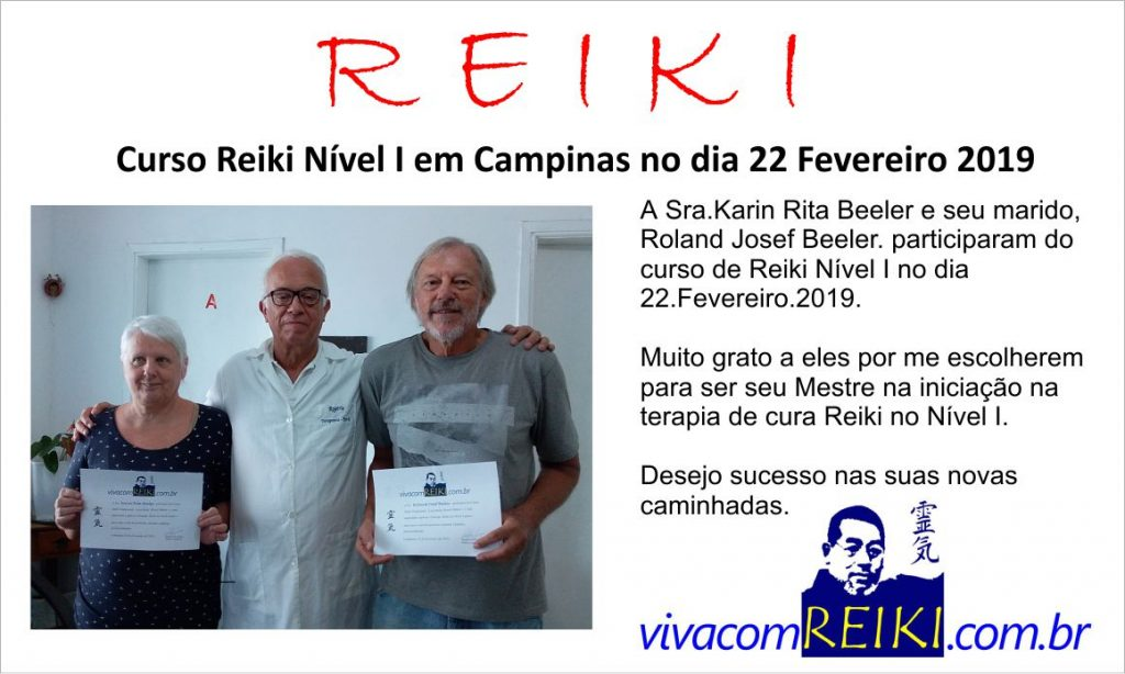 Curso Reiki n[ivel I em Campinas
