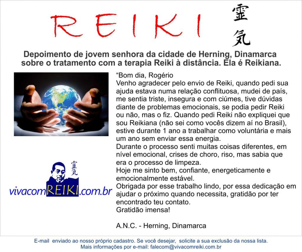 Depoimento tratamento Reiki distância
